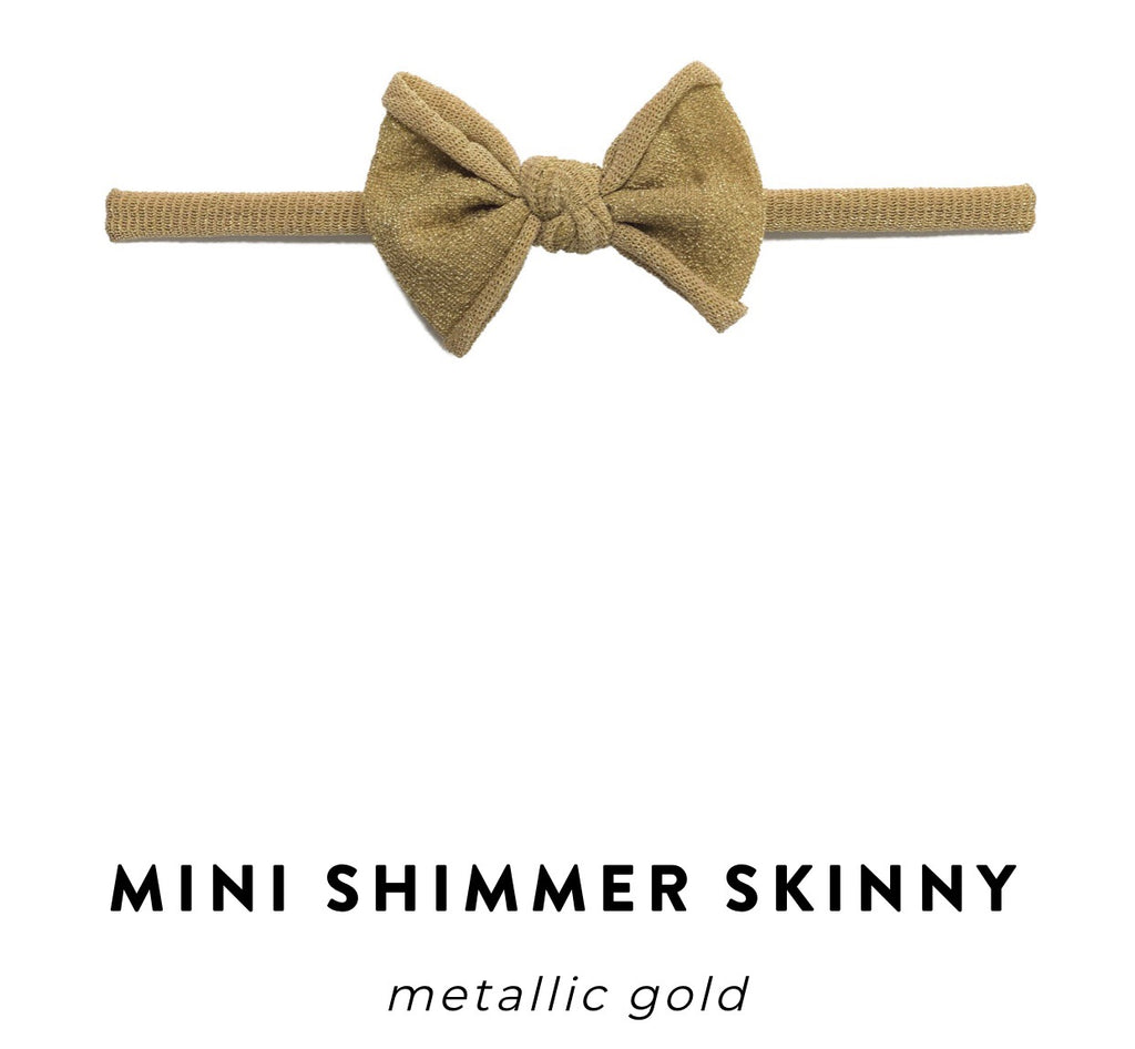 Baby Bling Bow: Mini Shimmer Skinny