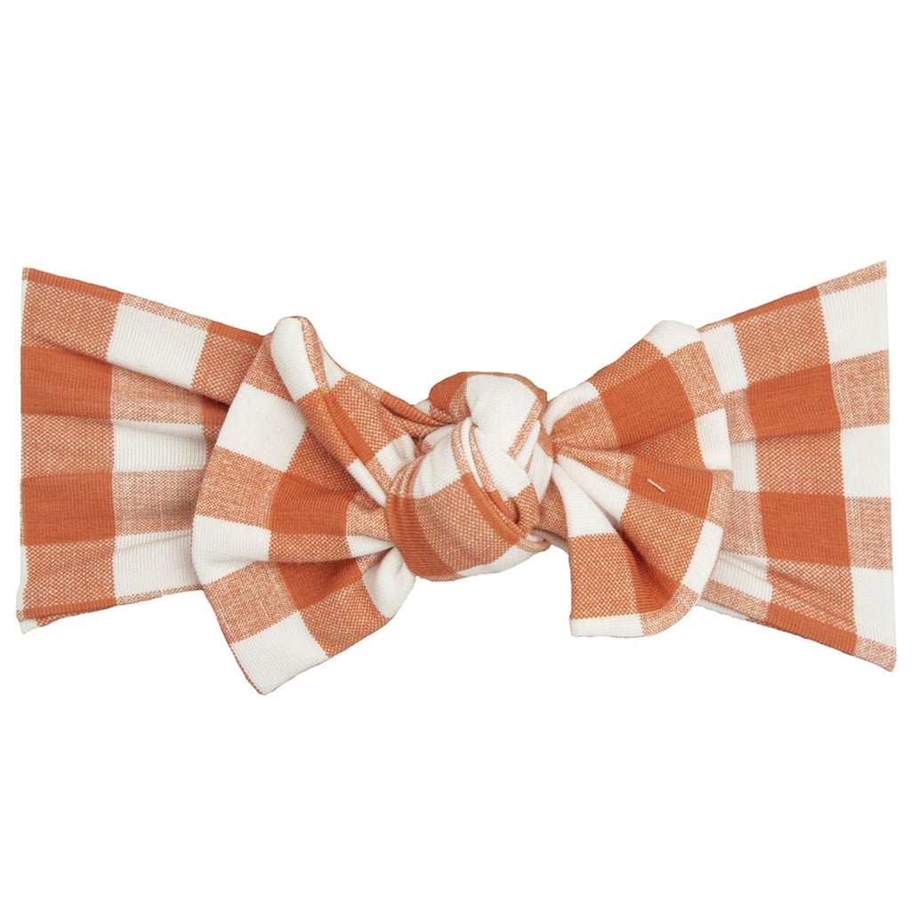 Gingham Pumpkin Headband
