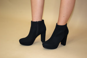Fame Pump Bootie: Black