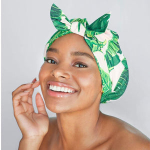 Luxe Shower Cap - Palm Print