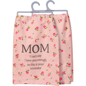 Pink Mom tea towel