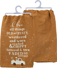 Load image into Gallery viewer, Tea Towel - I love all things faded and vintage