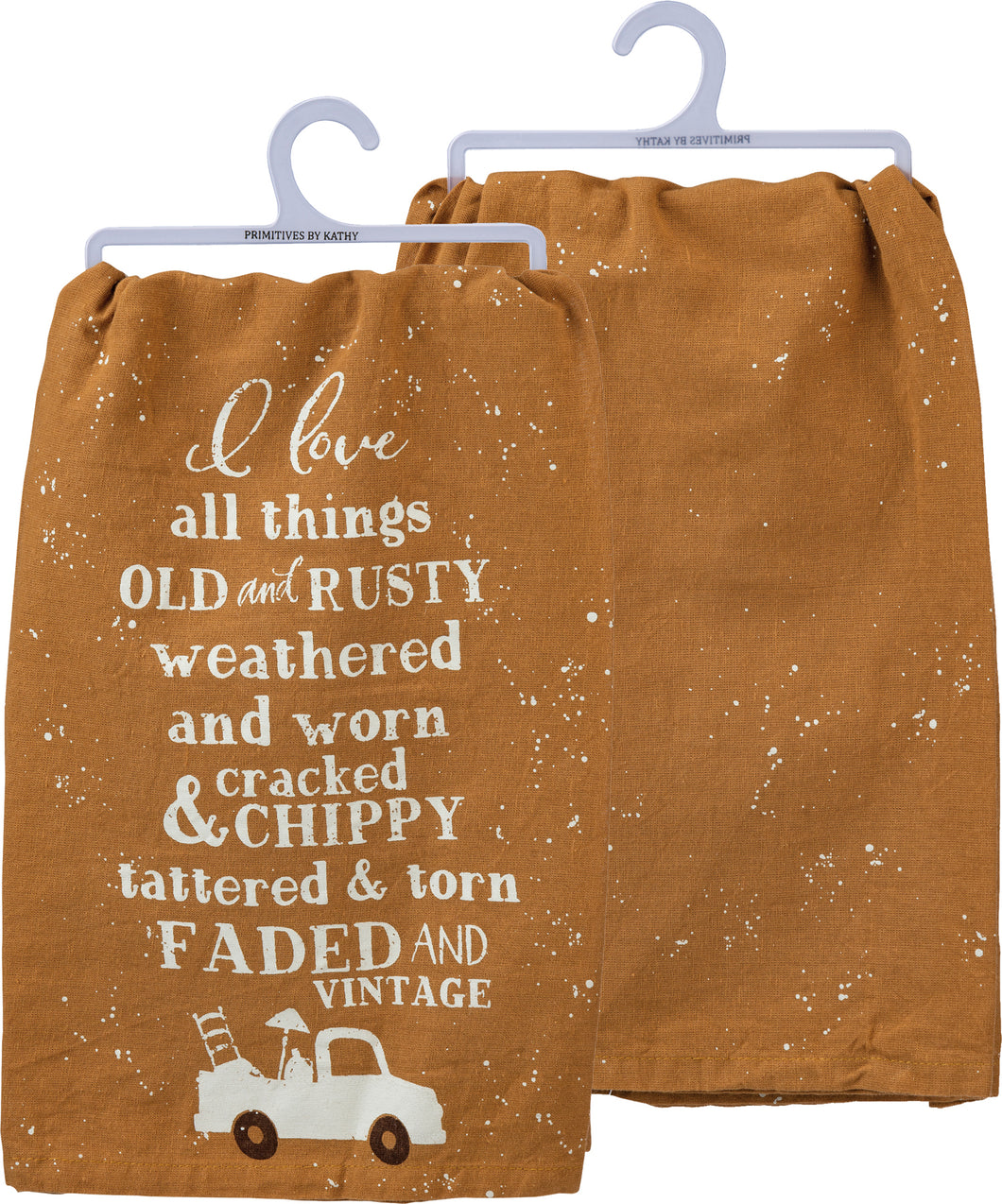 Tea Towel - I love all things faded and vintage