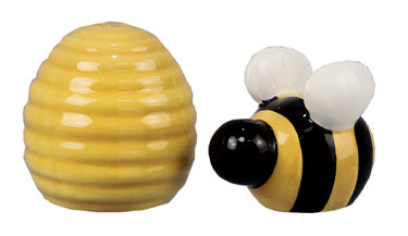 Ceramic Bee Salt & Pepper shakers