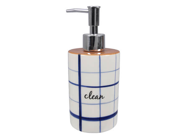 Ceramic Blue & White Soap Dispenser