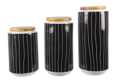 Ceramic Black & White Canisters