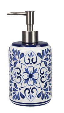 Ceramic Blue and White Soap Dispenser
