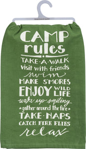 Dish towel - Camp Rules