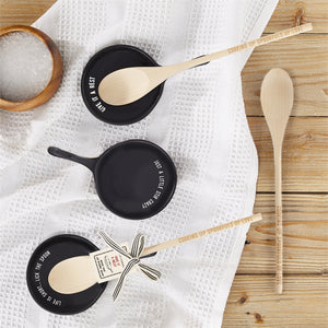 Give It a Rest Spoon Rest with Wooden Spoon Asst 3 Saying