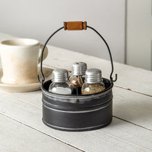 Load image into Gallery viewer, Round Bucket Salt, Pepper & Toothpick holder