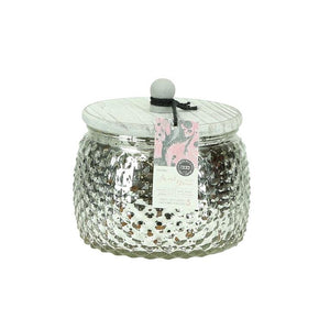 Bridgewater silver 10 oz candle with lid