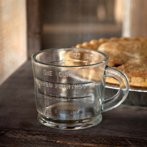 Vintage style glass measuring cup