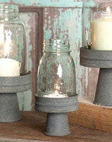Mason Jar Chimney with Stand - ¼ Pint MASON JAR CHIMNEY WITH STAND - ¼ PINT