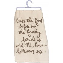 dish towel - Bless the Food, Family & Love