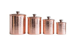 Copper Canister SET of 4
