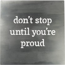 Magnet Board - Don't stop until you're proud