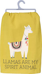 dish towel - llama spirit animal