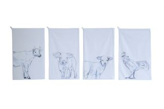 dish towel - Farm Animals 4 styles