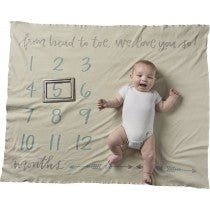 Milestone Swaddle Blanket - Boy From Head to Toe
