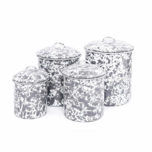 4 piece Splatterware Canister Set