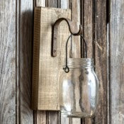 Canning Jar Hanging on Wood