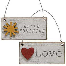 Load image into Gallery viewer, HOME, inspirational & Hello Sunshine charm Ornaments