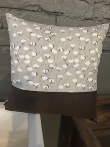 Cotton Boll Pillow