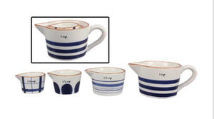Blue & White Measuring Cups