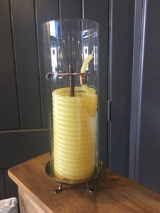 Coil Candle - vertical with glass