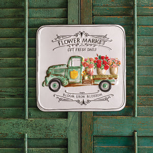 Flower Market - metal sign