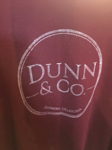 Dunn & Co. Screenprint Shirt - burgandy