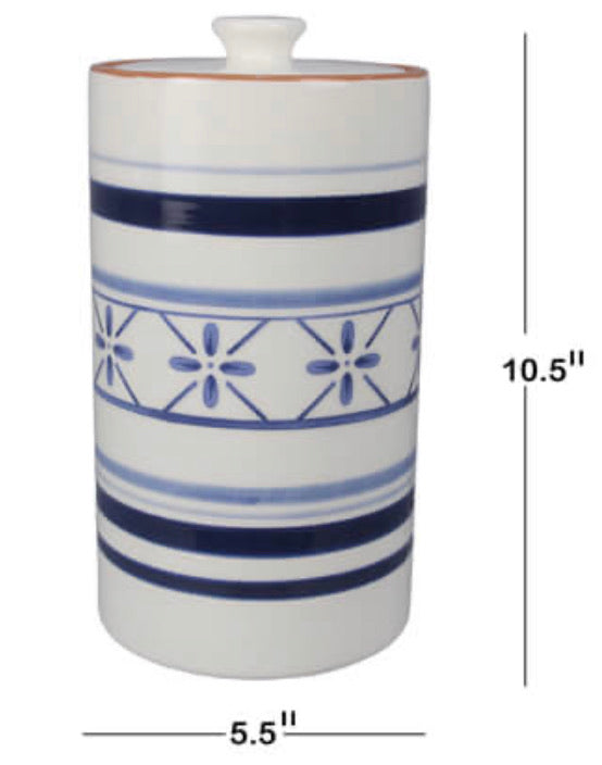 Blue & White Cookie Jar