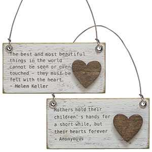HOME, inspirational & Hello Sunshine charm Ornaments