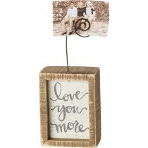 Inset Photo Block - Love you more