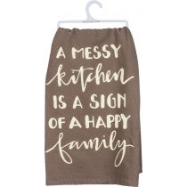dish towel - A Messy Kitchen is a Sign of a Happy Family