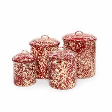 Load image into Gallery viewer, 4 piece Splatterware Canister Set