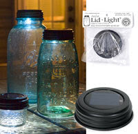 Solar Light Lid Rustic
