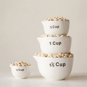 Stoneware Measuring Cups/set of 4
