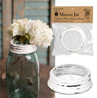 Load image into Gallery viewer, Mason Jar Chicken Wire Flower Frog