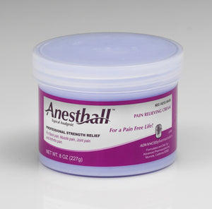 Anesthall Pain Relieving Cream 8 OZ. Jar - 10 Pack