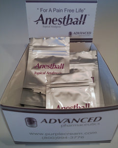 Anesthall Pain Relieving Cream Sample box