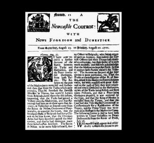 Newcastle Gazette - 27th August 1711