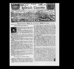 Ipswich Gazette - 21st January 1737
