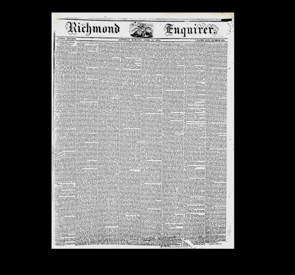 Richmond Enquirer - American Civil War - 1861