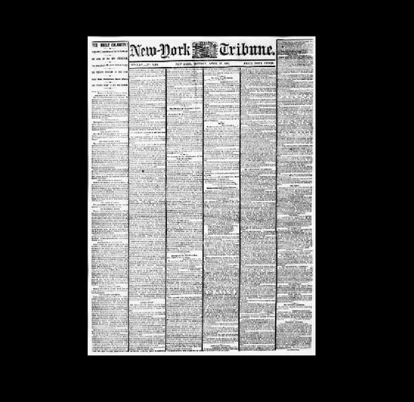 New York Tribune - assassination of Lincoln - 1865