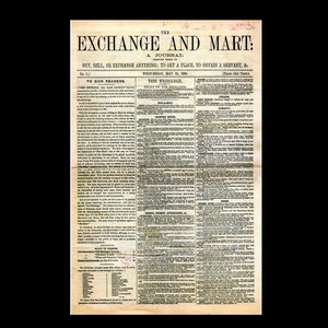 Exchange and Mart - The first Edition 1868