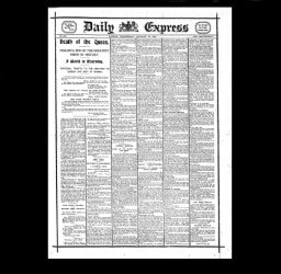 Daily Express - Death of Queen Victoria - 1901