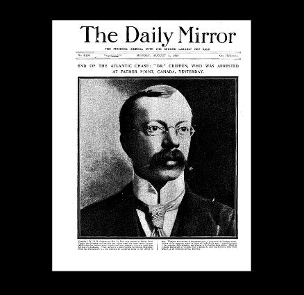 Daily Mirror - Dr Crippen - 1st August 1910
