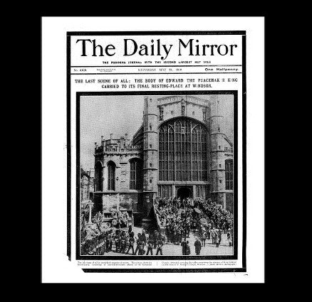 Daily Mirror - the funeral of Edward VI - 21st May 1910