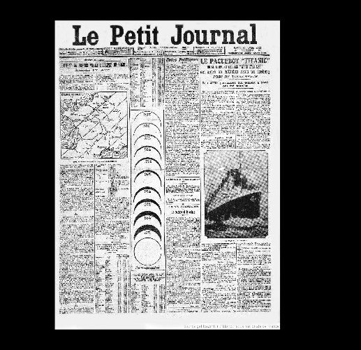 Le Petit Journal - Titanic - 16th April 1912